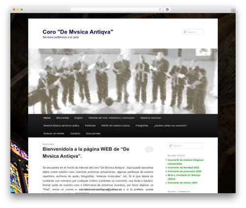 Twenty Eleven WordPress website template - corodemusicaantiqua.com