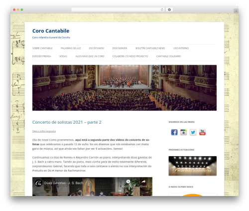 Twenty Twelve free WordPress theme - corocantabile.es