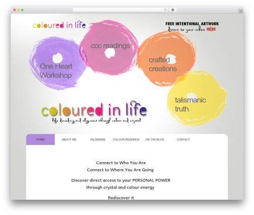 WordPress Theme Number best WordPress template - coloredinlife.com