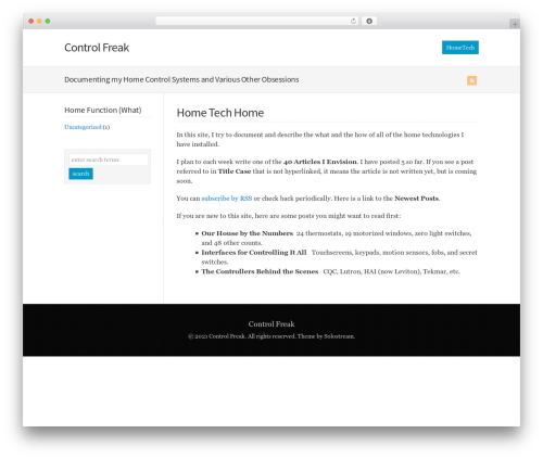 WP-Brilliance WordPress theme - controlfreak.us