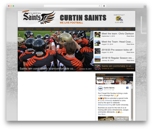 WP template Football Club - curtinsaints.com.au