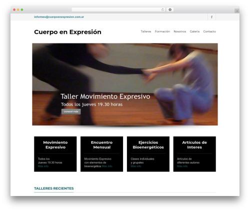 Yalu WordPress template - cuerpoenexpresion.com.ar