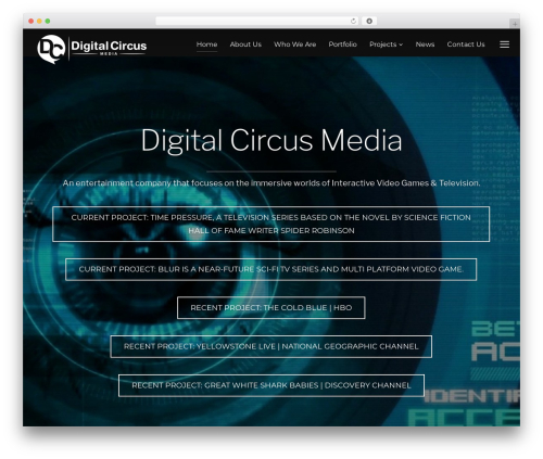 Inspiro top WordPress theme - digitalcircusmedia.com