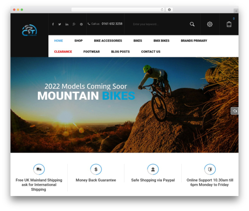 Sportbikes WordPress template - ctbikes.co.uk