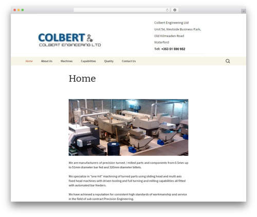 Twenty Thirteen WordPress theme free download - colbertengineering.com