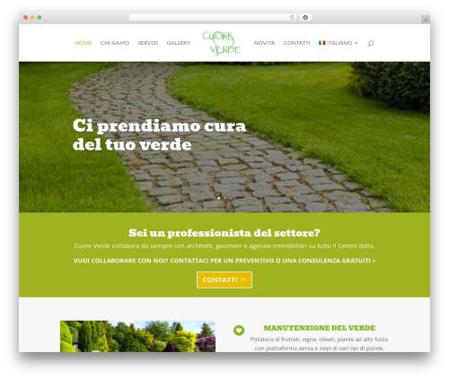 Theme WordPress Cuore Verde by MG Group Italia