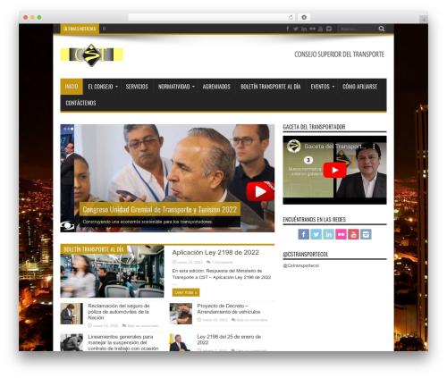 WP template Jarida (shared on wplocker.com) - consejosuperiordeltransporte.org