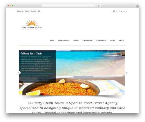Best WordPress theme Nomos - culinaryspain.com