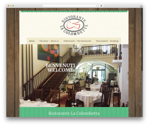 Betheme best restaurant WordPress theme - colombetta.it