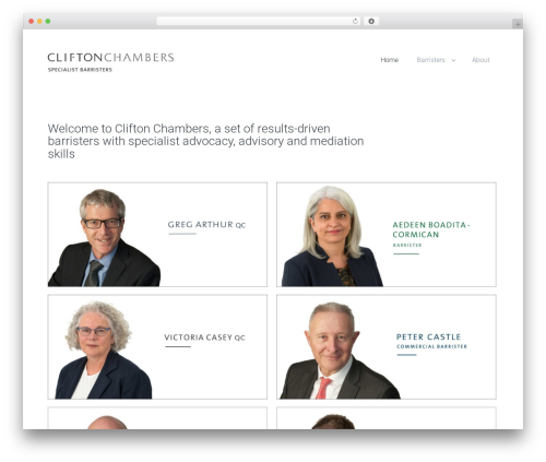 Candid WordPress theme - cliftonchambers.co.nz