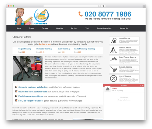 Cleaning Services WP theme - cleanershertford.com