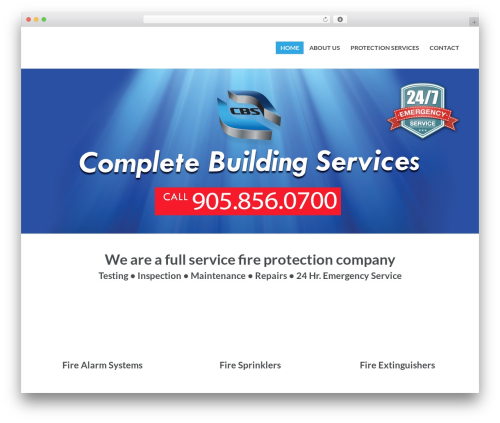 PressCore WordPress page template - completebuildingservices.ca