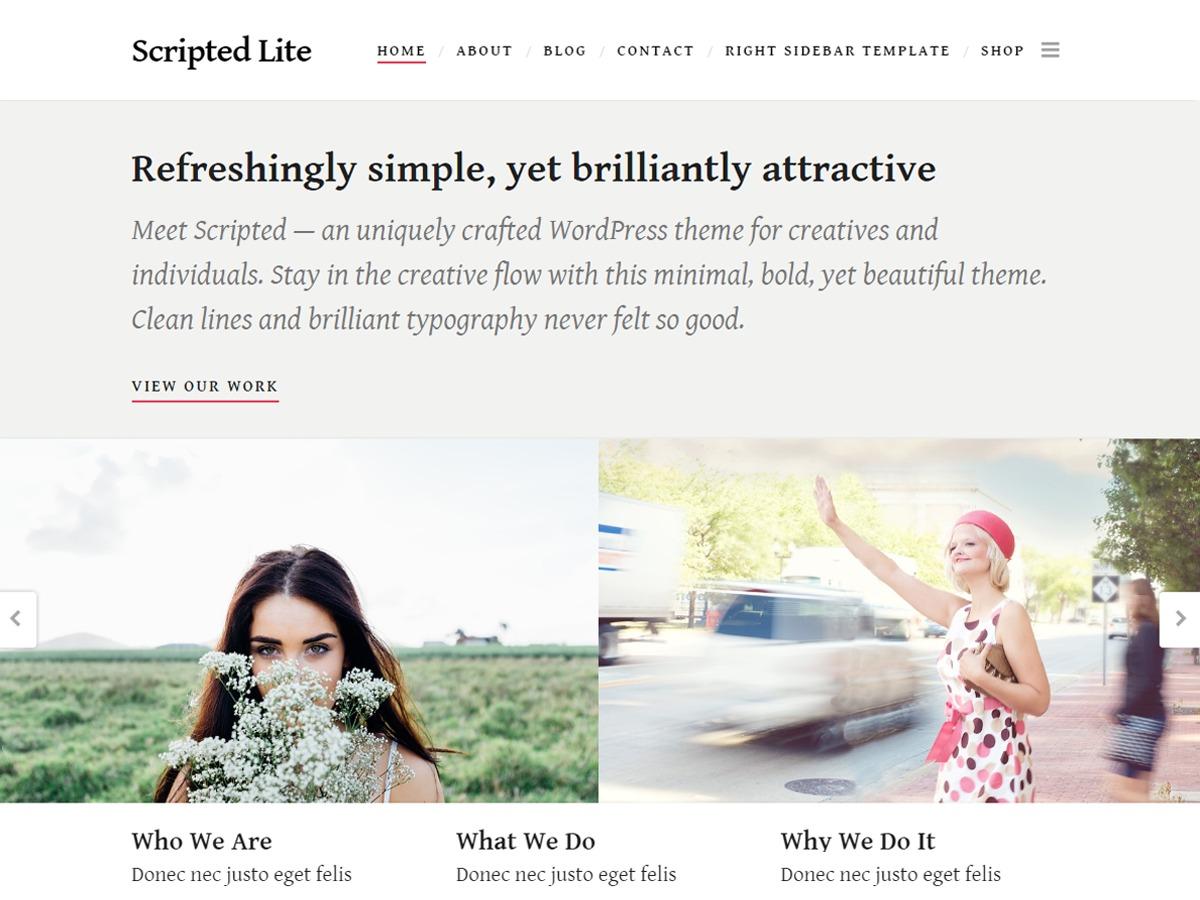Scripted theme WordPress portfolio