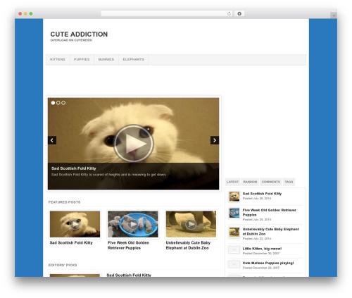 Template WordPress Project AR2 - cuteaddiction.com