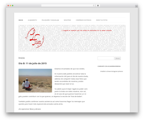Twenty Twelve WordPress theme - cuadernodeboda.com