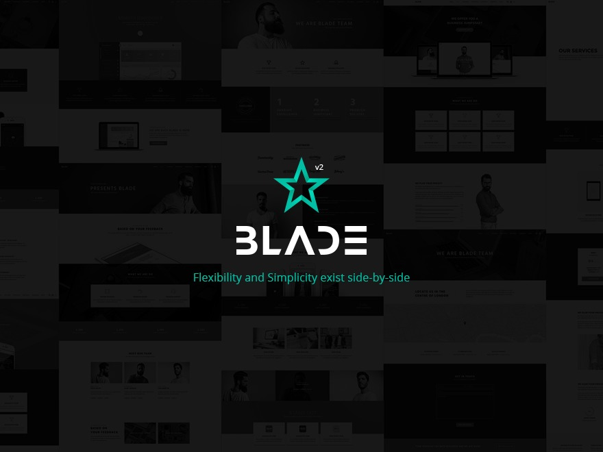 WordPress template Blade