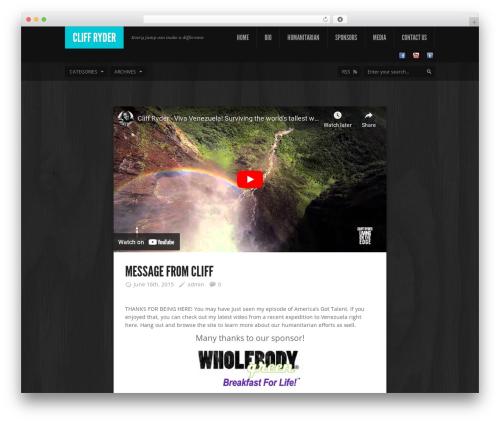 WordPress theme Feather - cliffryder.com