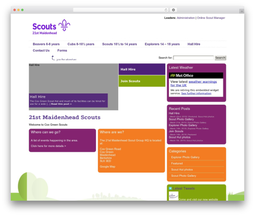 WP template Scout IT! - coxgreenscouts.org.uk