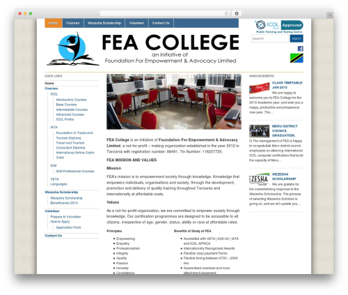 Academica best free WordPress theme - feacollege.org
