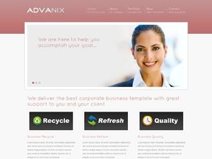 Advanix Red WordPress theme