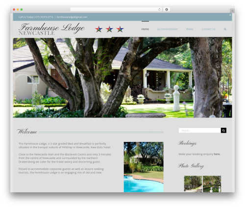 Avada WordPress theme - farmhouselodge.co.za