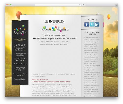 Best WordPress template Memoir - futuresinspired.com