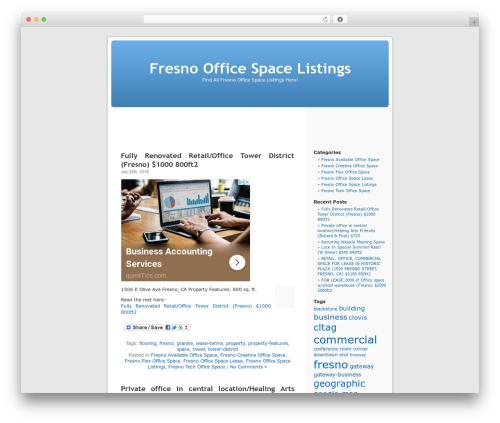 Best WordPress theme WordPress Default - fresnoofficespacelistings.com