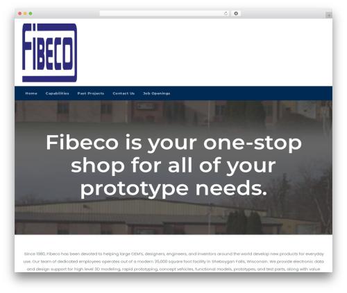 Businessup top WordPress theme - fibeco.com