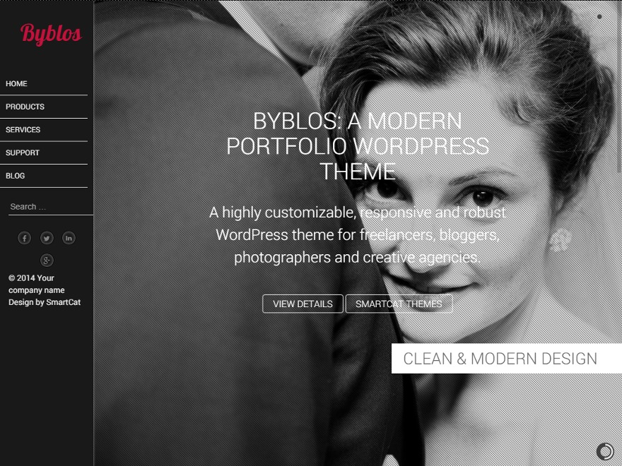 Byblos Pro theme WordPress portfolio