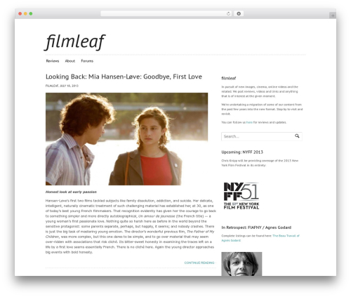 Canvas WP theme - filmleaf.com