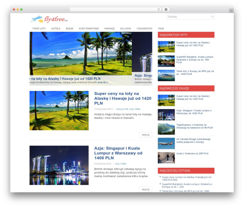 Central WordPress template free - fly4free.eu