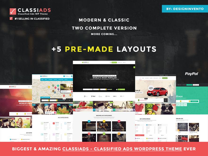 ClassiAds theme WordPress