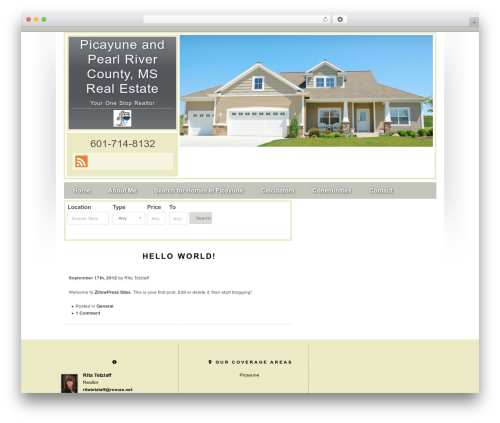 Concise real estate WordPress theme - forsaleinpearlrivercounty.com