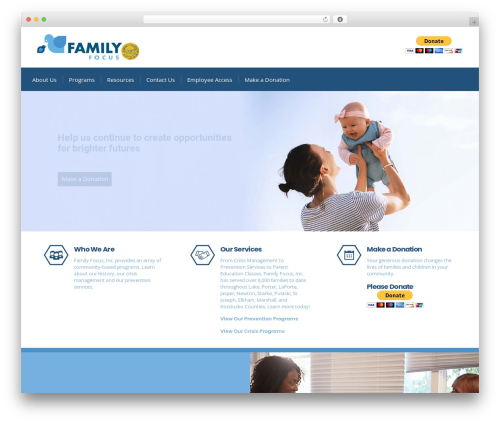 Consulting WordPress template free - familyfocusinc.net