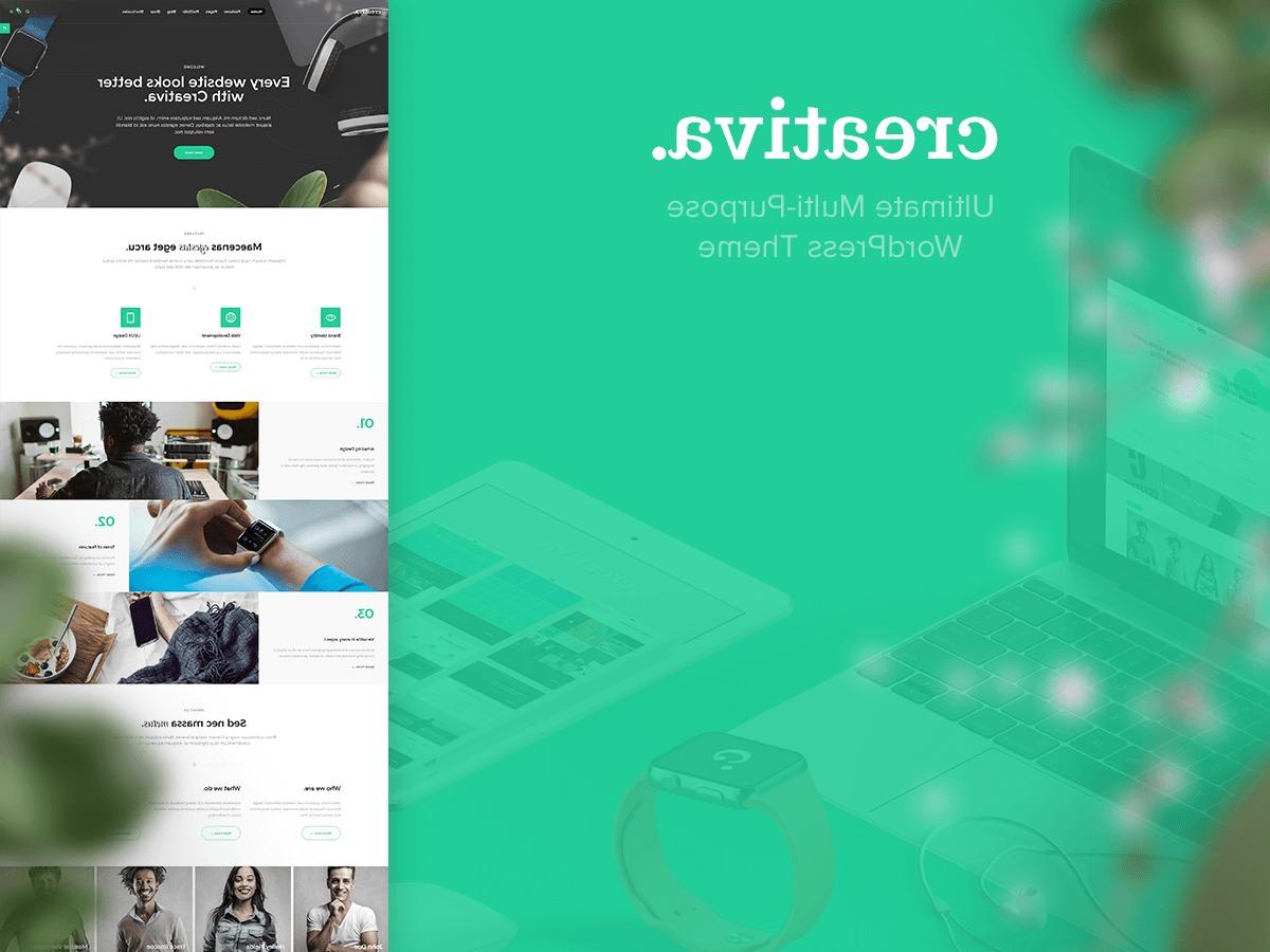 Creativa best WordPress template