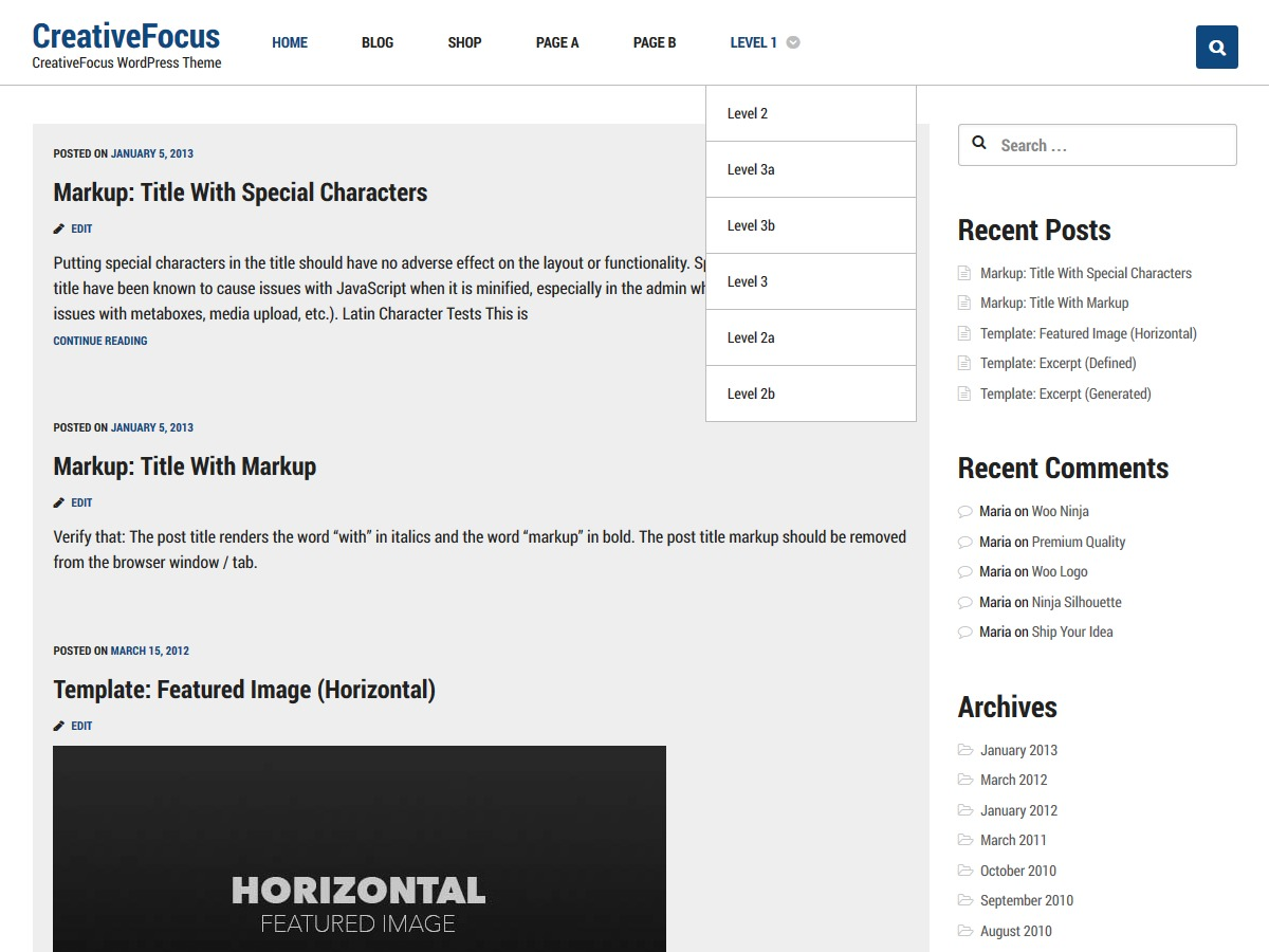 Creative Focus WordPress free download