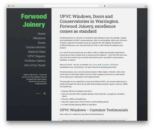 Free WordPress Carousel Slider plugin - forwoodjoinery.com
