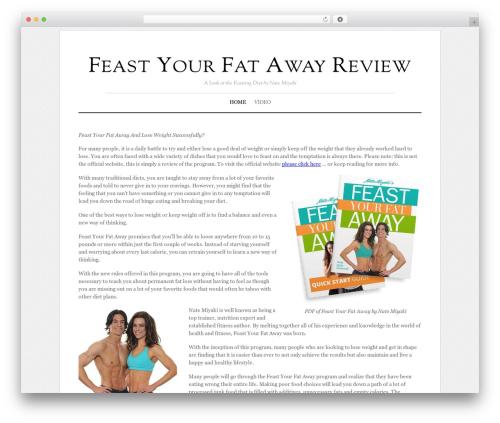 Elemin WordPress theme - feastyourfatawayreview.org