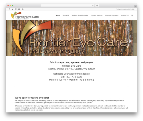 Enfold theme WordPress - frontier-eyecare.com