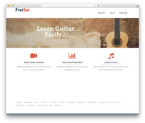 Guru best WordPress template - fretset.com