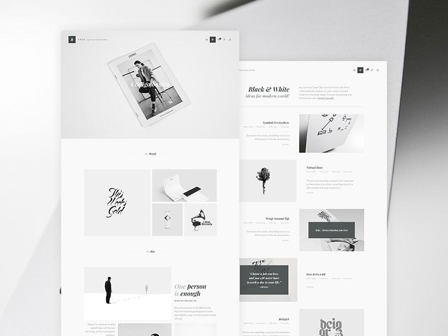 Inverto wallpapers WordPress theme