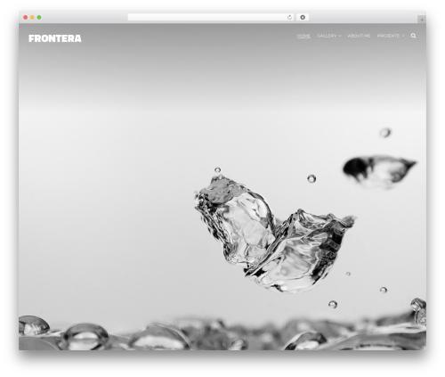 Johnblack premium WordPress theme - frontera.ch