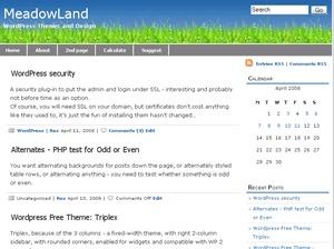 meadowland template WordPress