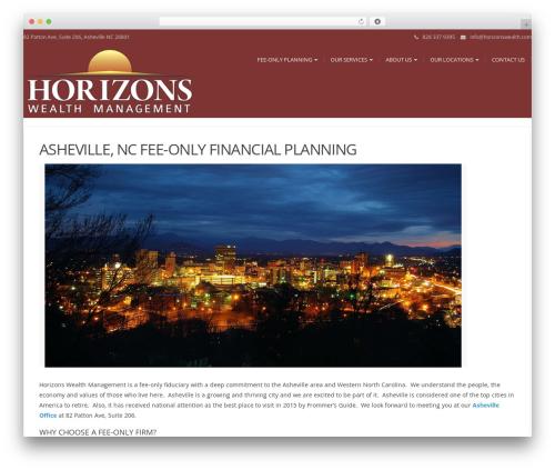 Modality WordPress page template - feeonlyfinancialplannerasheville.com