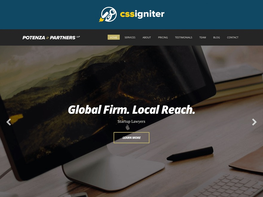 Potenza WordPress template for business