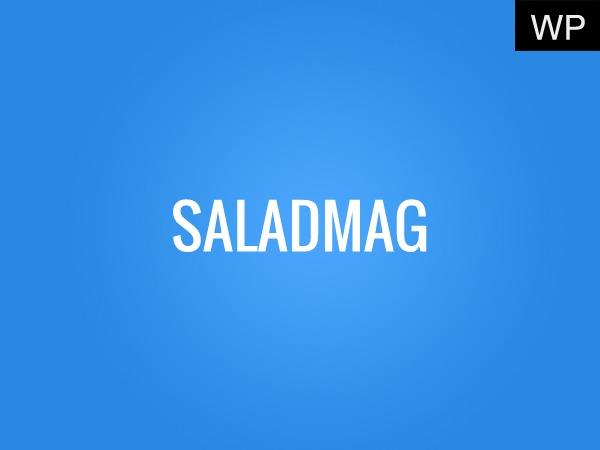Saladmag (shared on wplocker.com) best WordPress magazine theme