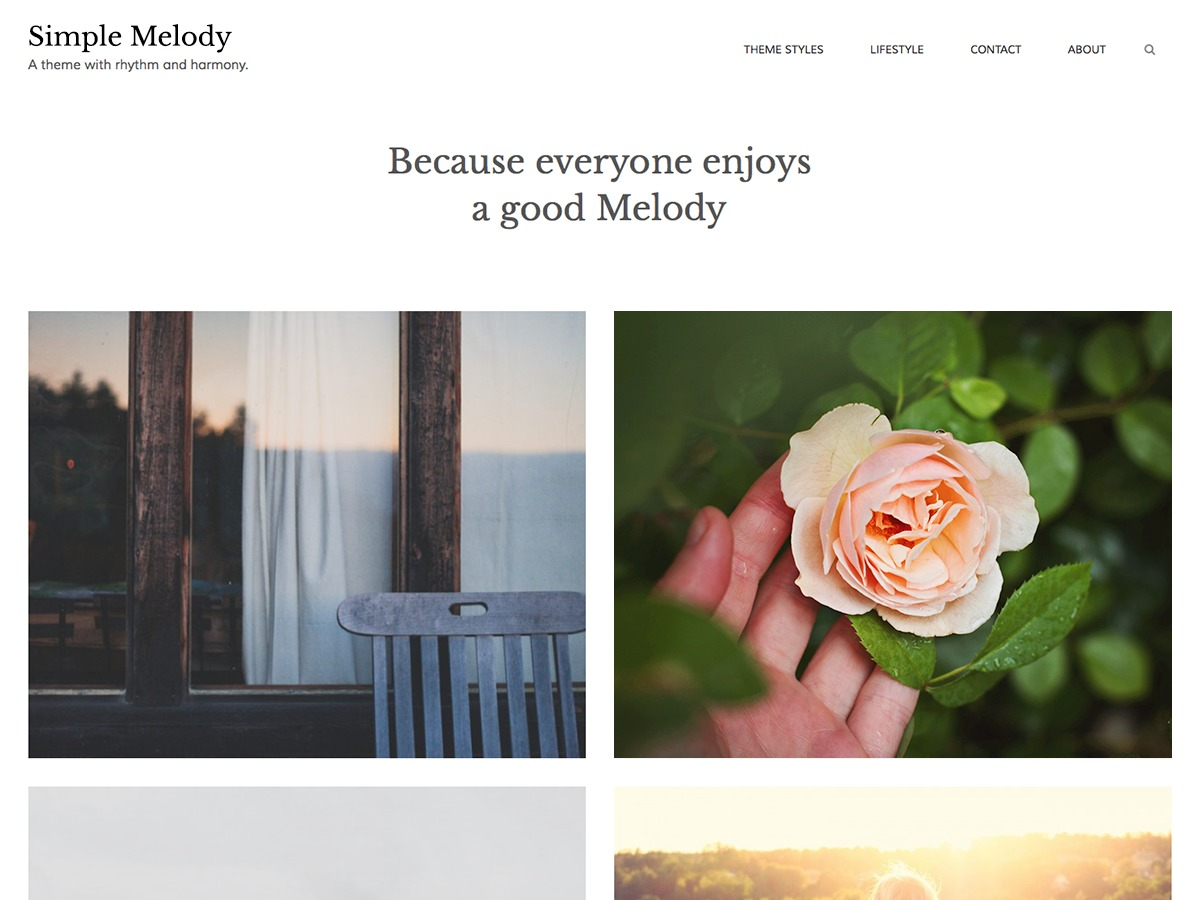 Simple Melody free WordPress theme