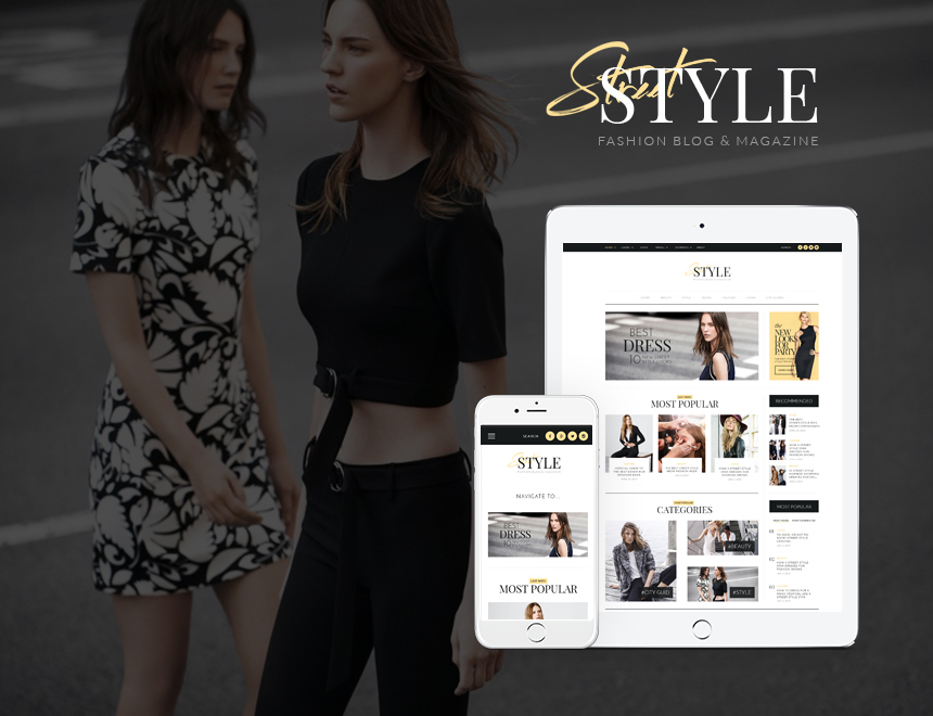 StreetStyle Blog WordPress blog template