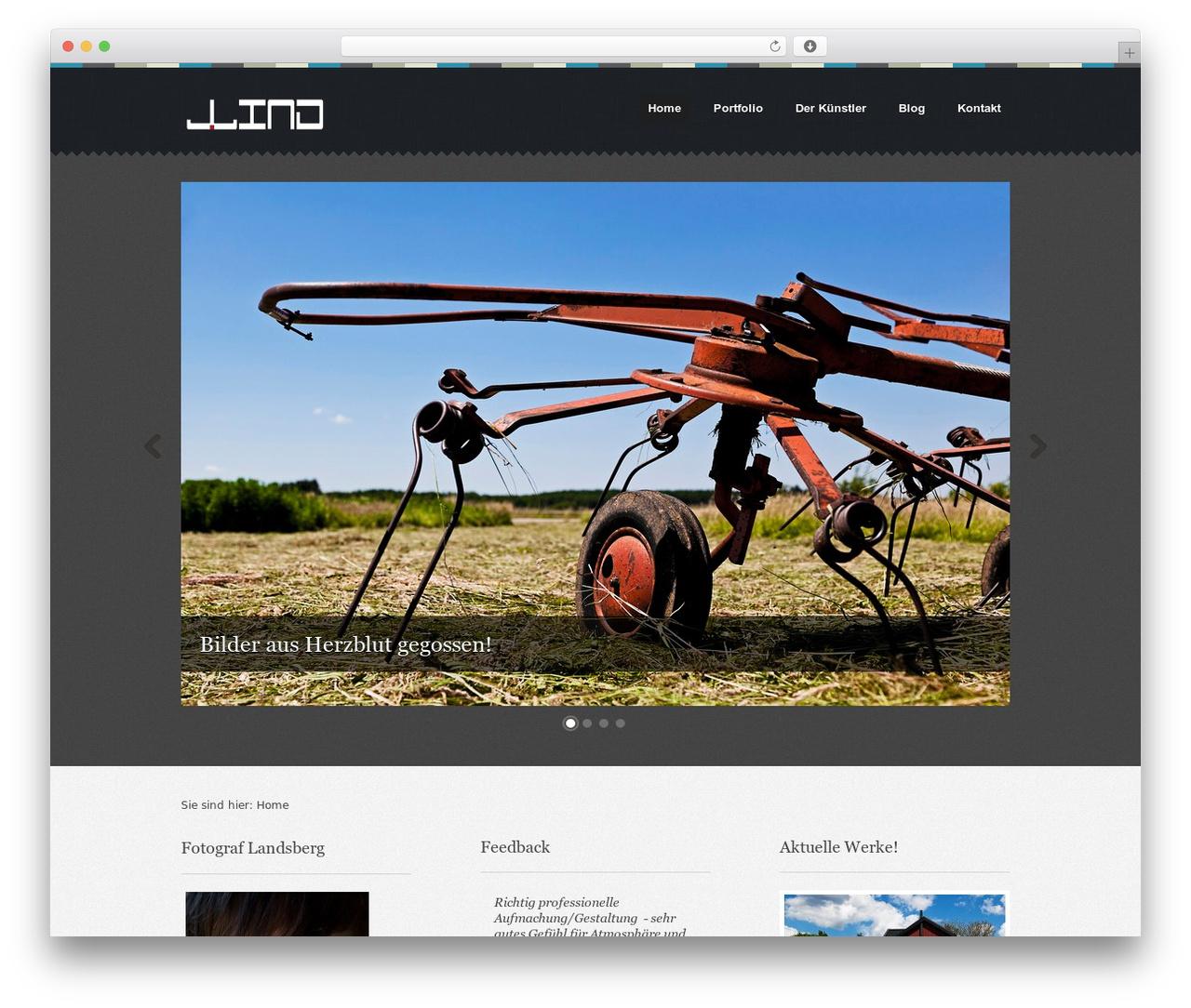 Swatch WordPress theme design - fotograf-lind.de