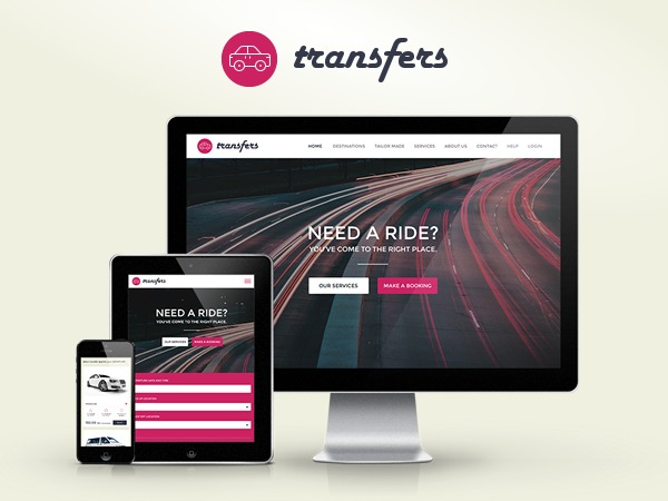 Transfers company WordPress theme